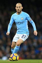 3rd December 2017 - Premier League - Manchester City v West Ham United - David Silva of Man City - Photo: Simon Stacpoole / Offside.