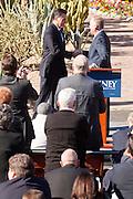 06 DECEMBER 2011 - PARADISE VALLEY, AZ: Former Vice President Dan Quayle endorses Republic Presidential hopeful Mitt Romney at the Hermosa Inn in Paradise Valley Tuesday.     PHOTO BY JACK KURTZ