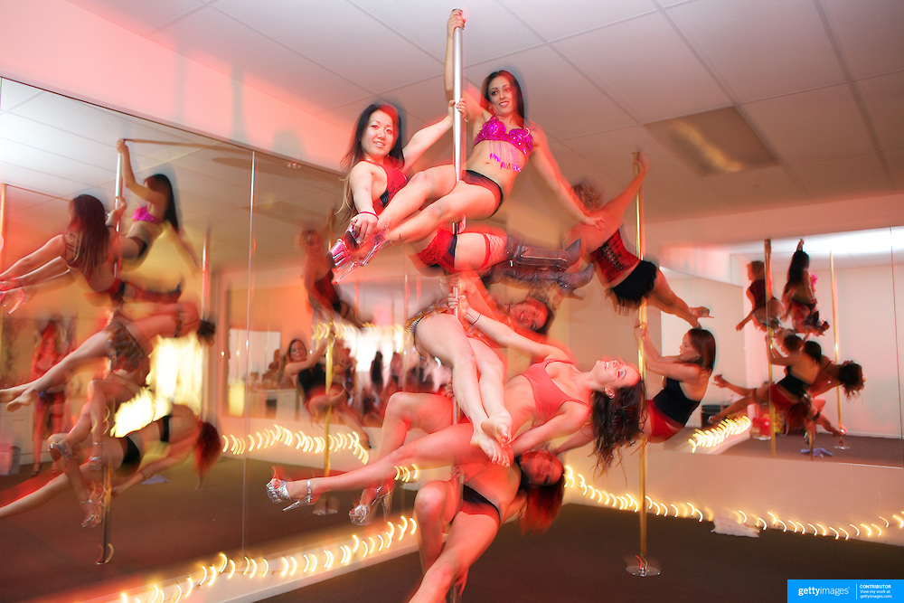 Pole dancers prepare for a photograph before Pole Dancing during the Queenstown Pole Studios end of year show at the Queenstown Pole Studio, Gorge Road,  Queenstown. South Island, New Zealand. 10th November, 2011