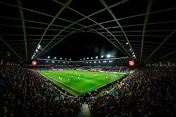 Stadium during the 2020 UEFA European Championships group G qualifying match between Slovenia and Poland at SRC Stozice on September 6, 2019 in Ljubljana, Slovenia. Photo by Vid Ponikvar / Sportida