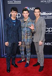 Joe Jonas, Nick Jonas and Kevin Jonas at the 2019 Billboard Music Awards held at the MGM Grand Garden Arena in Las Vegas, USA on May 1, 2019.