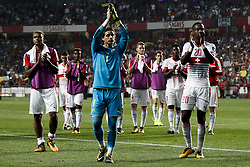 October 10, 2017 - Lisbon, Portugal - Switzerland's goalkeeper Yann Sommer salutes with his teammates the fans at the end of  the FIFA World Cup WC 2018 football qualifier match between Portugal and Switzerland, in Lisbon, on October 10, 2017. (Credit Image: © Carlos Palma/NurPhoto via ZUMA Press)