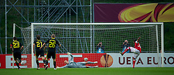 BRAGA, PORTUGAL, Thursday, March 10, 2011: Liverpool's goalkeeper Jose Reina is beaten by Sporting Clube de Braga's Alan from the penalty spot for the opening goal during the UEFA Europa League Round of 16 1st leg match at the Estadio Municipal de Braga. (Photo by David Rawcliffe/Propaganda)