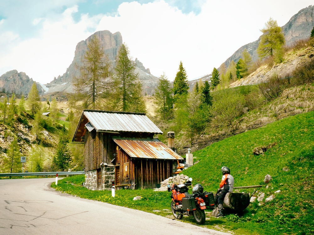 A favorite European riding destination is the Dolomites of the Italian Alps.  The roads are interesting, the mountains beautiful, food fantastic and people warm and welcoming.