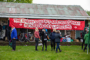 About 200 campaigners from different local groups came together today for a festival of solidarity with residents of Napier Barracks, a former military barracks that is being used as an assessment and dispersal facility for asylum seekers by the Home Office on the 21st of May 2021 in Folkestone, Kent, United Kingdom.