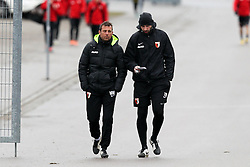 09.01.2015, SGL Arena, Augsburg, GER, 1. FBL, FC Augsburg, Training, im Bild l-r: Chef-Trainer Markus Weinzierl (FC Augsburg) und Reha- und Athletik-Trainer Thomas Barth (FC Augsburg) // during a trainings session of German Bundesliga Club FC Augsburg at the SGL Arena in Augsburg, Germany on 2015/01/09. EXPA Pictures © 2015, PhotoCredit: EXPA/ Eibner-Pressefoto/ Kolbert<br /> <br /> *****ATTENTION - OUT of GER*****
