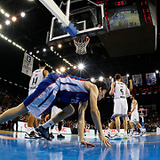 Anadolu Efes's Cedi Osman (F) celebrate victory during their Turkish Airlines Euroleague Basketball Group A Round 5 match Anadolu Efes between Real Madrid at Abdi ipekci arena in Istanbul, Turkey, Thursday, November 14, 2014. Photo by Aykut AKICI/TURKPIX