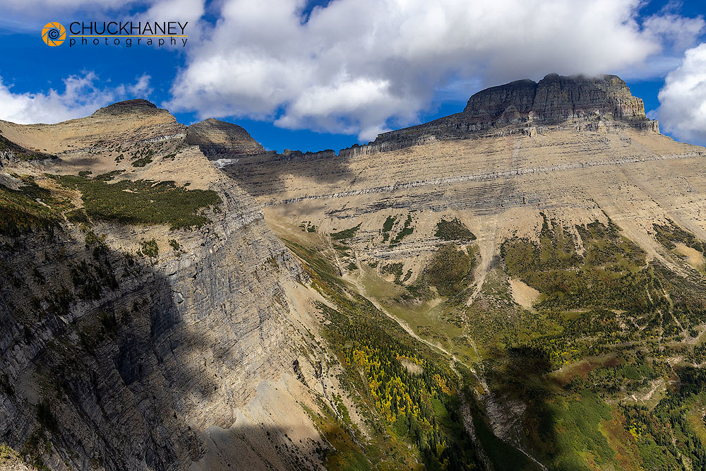 Mount Wilbur in early fall in Glacier National Park, Montana, USA