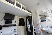Nederland, Nijmegen, 16-8-2016 Een studentenkamer in een studentenhuis in het centrum van de stad . Op kamers gaan. Deze kleine kamer kost 206 euro voor 6,7 m2Foto: Flip Franssen