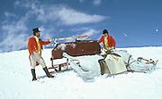 David Kirke and Cosmo Hulton. Dangerous Sports Club ski race. St. Moritz.  © Copyright Photograph by Dafydd Jones 66 Stockwell Park Rd. London SW9 0DA Tel 020 7733 0108 www.dafjones.com