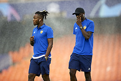 September 19, 2018 - Valencia, Spain - Michy Batshuayi and Mouctar Diakhaby before the Group H match of the UEFA Champions League between Valencia CF and Juventus at Mestalla Stadium on September 19, 2018 in Valencia, Spain. (Credit Image: © Jose Breton/NurPhoto/ZUMA Press)