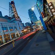 Downtown Kansas City's Main Street at Dusk