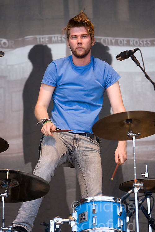 Ross Jarman of The Cribs, play on the main stage. Rockness, Sunday 8th June 2008..Pic © Michael Schofield. All Rights Reserved.