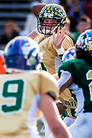The South's Dawson McPeak (12) of River Valley High School, passes the ball as the North faces the South during the annual 61st Optimist All-Star Football game at hornet stadium at California State University, Sacramento, Saturday Jan 19, 2019.