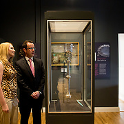 30.05. 2017.                                             <br /> Limerick Museum opened the doors to its new home at the former Franciscan Friary on Henry Street in the heart of Limerick city, dedicated to the memory of Jim Kemmy, the former Democratic Socialist Party and Labour Party TD for Limerick East and two-time Mayor of Limerick.<br /> <br /> Pictured at the opening of the Museum were, Cllr. Elena Secas and Cllr. Joe Leddin.<br /> <br /> The museum will house one of the largest collections of any Irish museum. Picture: Alan Place