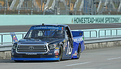 November 16, 2018 - Homestead, FL, USA - Driver Brett Moffitt #16 pits during practice of the NASCAR Camping World Truck Series at Homestead-Miami Speedway on Friday, Nov. 16, 2018. (Credit Image: © David Santiago/Miami Herald/TNS via ZUMA Wire)