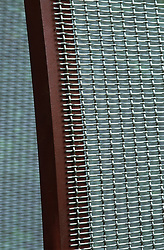 Detail of wire mesh screen.