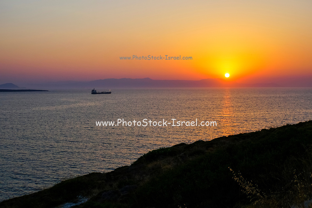 Mediterranean Sun Set. Photographed in Chania, Crete Island, Greece