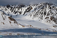 Arctic landscape, Svalbard, Spitzbergen, Arctic Norway