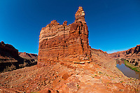 Overview of The Loop, Colorado River, Canyonlands National Park, Utah, USA