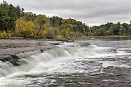 Pakenham Falls on the Mississippi River just downstream from the Five Span Stone Bridge in Pakenham, Ontario, Canada.