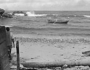 Vid stranden i Blachisseuse, Trinidad.