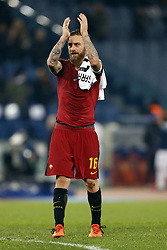 December 5, 2017 - Rome, Italy - Daniele De Rossi of Roma celebrates after defeating Qarabag in their UEFA Champions League Group C soccer match in Rome. Roma won the match 1-0. (Credit Image: © Giampiero Sposito/Pacific Press via ZUMA Wire)