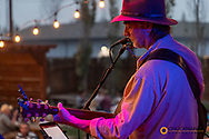 David Walburn and Michael Atherton perform at The Gunsight Saloon in downtown Columbia Falls, Montana, USA