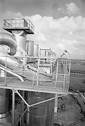 Peat Briquette Factory, Derrinlough, Offaly..1964..23.03.1964..03.23.1964..23rd March 1964..Picture taken of the Bord na Mona briquette factory in Co Offaly.