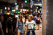 Shoppers in downtown Osaka - Umeda area.