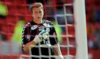 Fotball<br /> 29. Juni 2013<br /> Tippeligaen<br /> Brann Stadion<br /> Brann - Sandnes Ulf<br /> Sean McDermott , Sandnes Ulf hadde ingen bra dag på jobben<br /> Foto Astrid M. Nordhaug