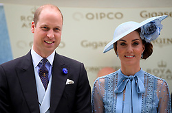 The Duke and Duchess of Cambridge during day one of Royal Ascot at Ascot Racecourse.