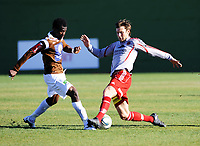 Fotball , 15. mars 2012, Privatkamp , Mjøndalen - Strømmen 3-0<br /> <br /> <br /> Aziz Idris , MIF<br /> Gøran Van Den Burgt , Strømmen