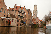 Canal front buildings, Bruges, Belgium