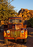 Old Ford lorry in the entrance to the lodge in Gondwana Canon Park, a 100,000 hectare private reserve.