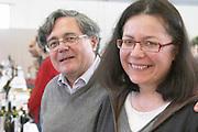 Michel and Brigitte Comps owners chateau les mangons sainte foy bordeaux france