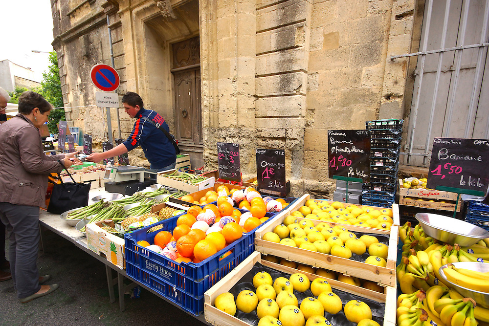 Southern France Outdoor Market, Calvisson, South of France