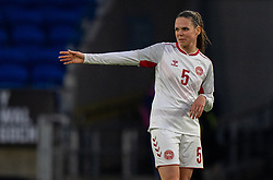 CARDIFF, WALES - Tuesday, April 13, 2021: Denmark's Simone Boye Sørensen during a Women's International Friendly match between Wales and Denmark at the Cardiff City Stadium. (Pic by David Rawcliffe/Propaganda)