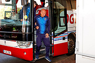 Wimbledon Assistant Manager Neil Cox arrives during the EFL Sky Bet League 1 match between Blackpool and AFC Wimbledon at Bloomfield Road, Blackpool, England on 20 October 2018.