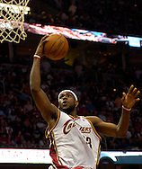 PHOTO BY DAVID RICHARD.LeBron James of  Cleveland finds an open look at the basket yesterday against Washington.