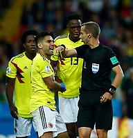 \protsta comolbia arbitro Geiger (USA)<br /> Moscow 03-07-2018 Football FIFA World Cup Russia 2018 <br /> Colombia - England / Colombia - Inghilterra<br /> Foto Matteo Ciambelli/Insidefoto
