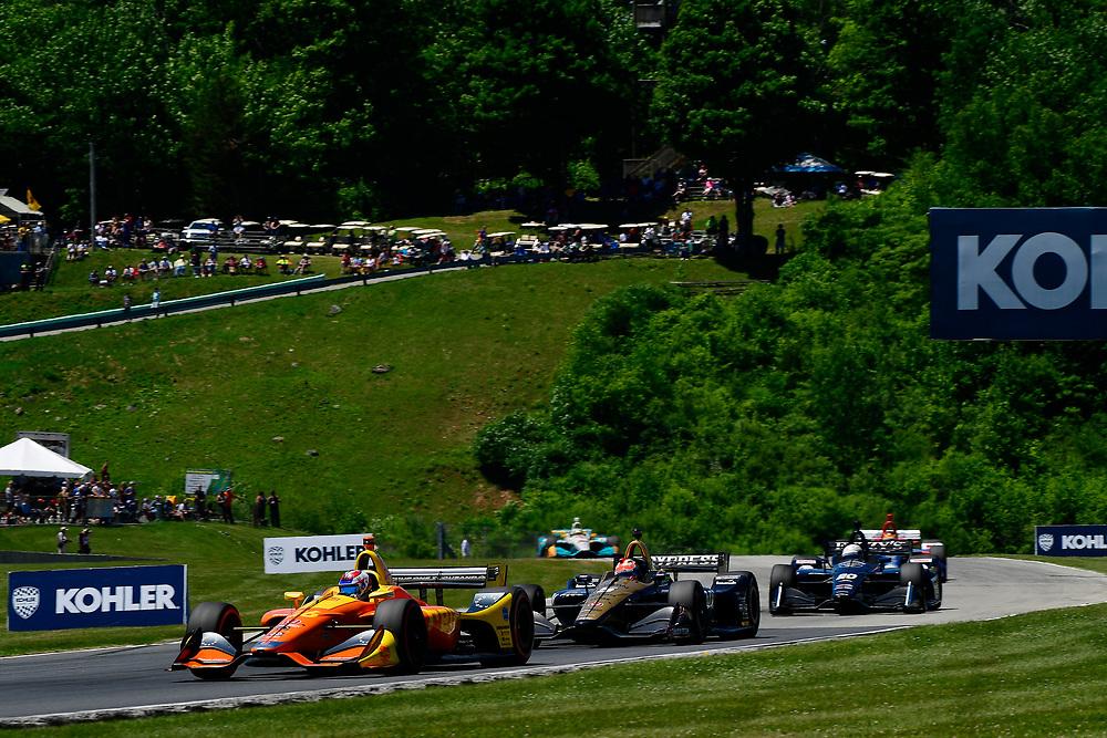 Zach Veach, Andretti Autosport Honda<br /> Sunday 24 June 2018<br /> KOHLER Grand Prix at Road America<br /> Verizon IndyCar Series<br /> Road America WI USA<br /> World Copyright: Scott R LePage