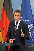 DEU, Deutschland, Germany, Berlin, 04.05.2012:<br />NATO-Generalsekretär Anders Fogh Rasmussen während einer Pressekonferenz im Bundeskanzleramt.