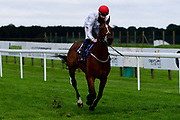 Lokal Heroine ridden by Daniel Musscutt and trained by Rod Millman ridden in the Bath.co.uk Classified Stakes - Mandatory by-line: Ryan Hiscott/JMP - 24/08/20 - HORSE RACING - Bath Racecourse - Bath, England - Bath Races