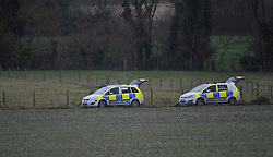 © Licensed to London News Pictures. 14/12/2013. Police and forensics search an area of land near Upton in Oxfordshire for missing teenager Jayden Parkinson. Jayden, who has now been missing for 12 days, was last seen on CCTV leaving Didcot train station at around 4.30pm on Tuesday 3 December. Thames Valley Police are currently holding two people - a 22-year-old man and 17-year-old boy - in relation to the case.<br /> Photo credit : MarkHemsworth/LNP