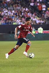 July 25, 2018 - Philadelphia, PA, U.S. - PHILADELPHIA, PA - JULY 25: Bayern Munich midfielder Jeong Woo-Yeong (30) dribbles the ball during a International Champions Cup match between Juventus and FC Bayern Munich on July 25,2018, at Lincoln Financial Field in Philadelphia,PA. Juventus won 2-0. (Photo by Andy Lewis/Icon Sportswire) (Credit Image: © Andy Lewis/Icon SMI via ZUMA Press)