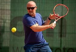 Anze Baselj, Drzavno prvenstvo novinarjev v tenisu 2019, on June 12, 2019 in Tivoli, Ljubljana, Slovenia. Photo by Vid Ponikvar / Sportida