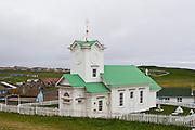 Ss. Peter and Paul Russian Orthodox Church, St. Paul Island, Pribilof Island, Alaska. Digital original ©Robin Brandt  #07_1405