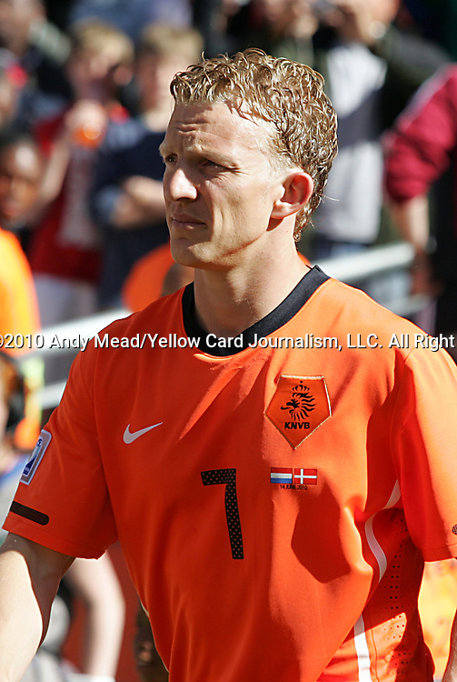 14 JUN 2010:  Dirk Kuyt (NED)(7).  The Netherlands National Team defeated the Denmark National Team 2-0 at Soccer City Stadium in Johannesburg, South Africa in a 2010 FIFA World Cup Group E match.