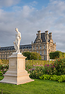 The grounds of the Louvre museum in Paris, France.